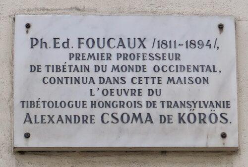 Plaque en hommage à Ph. Ed. Foucaux. Courtesy of Wikimedia Commons.