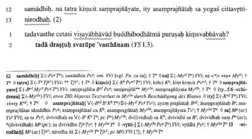 Philipp A. Maas 2006. Samādhipāda: Das erste Kapitel des Pātañjalayogaśāstra zum ersten Mal kritisch ediert. Page 7.